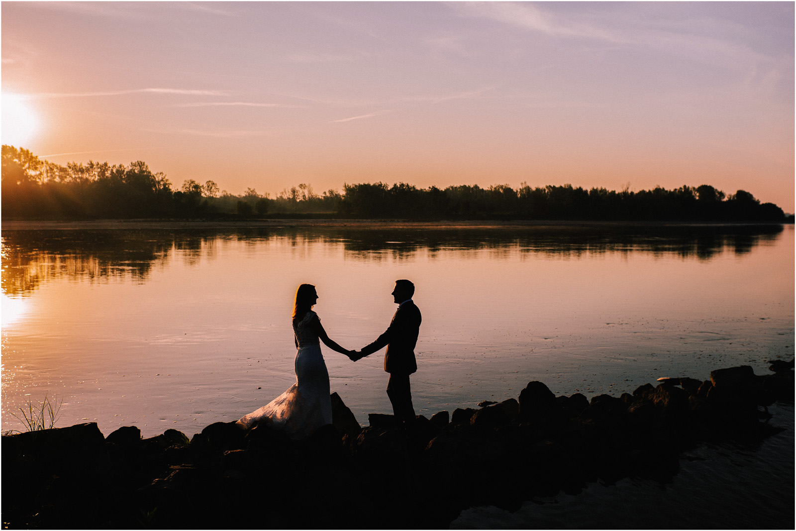 Ewa & Mateusz | wschód słońca nad Wisłą 3
