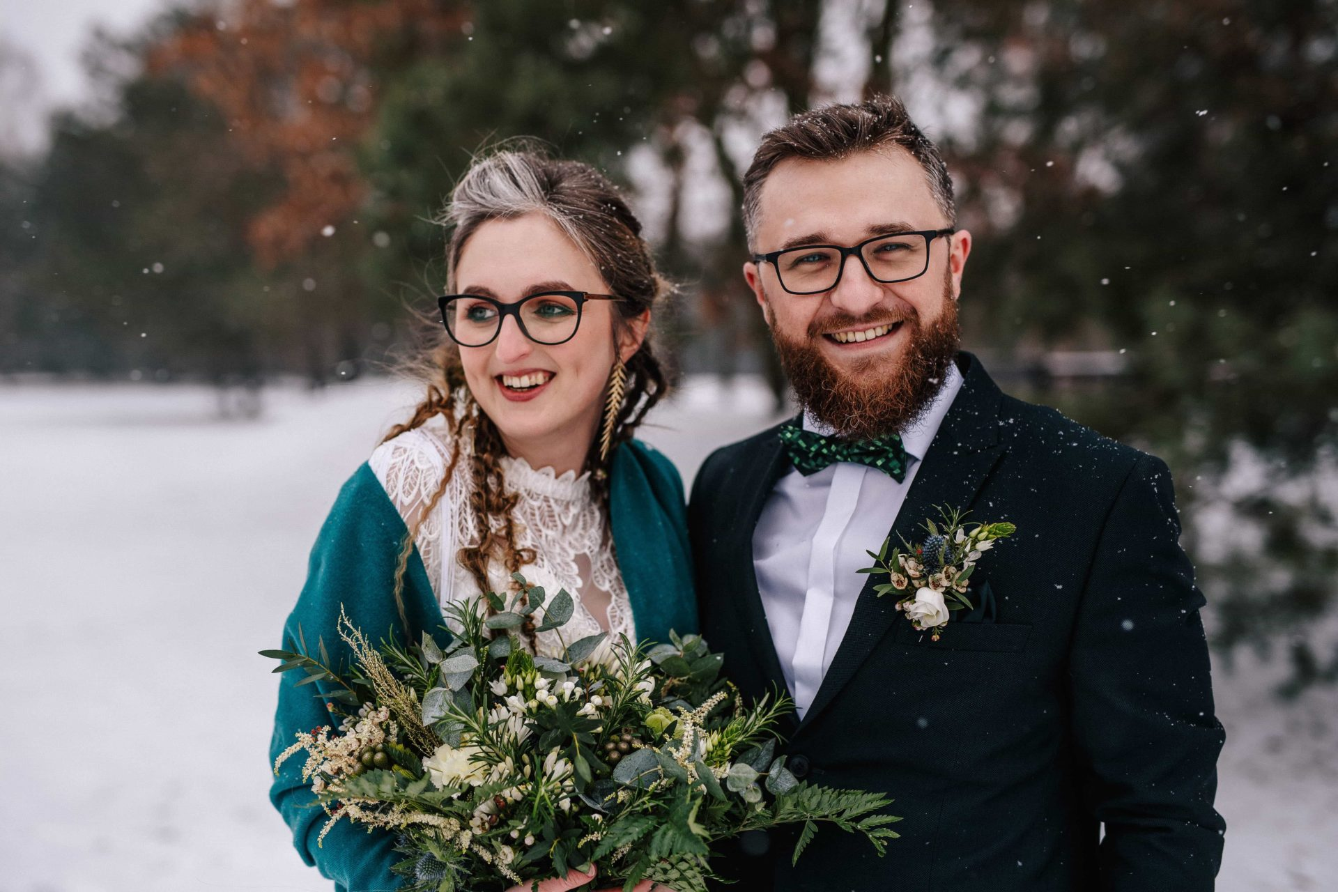 Gosia & Tomek | zimowy ślub w Gościńcu za Borem 10