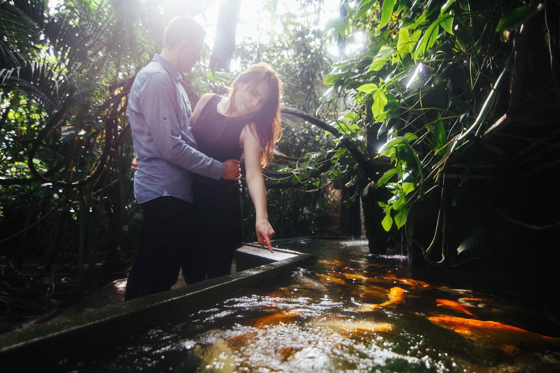 Monika & Damian | sesja w palmiarni 16