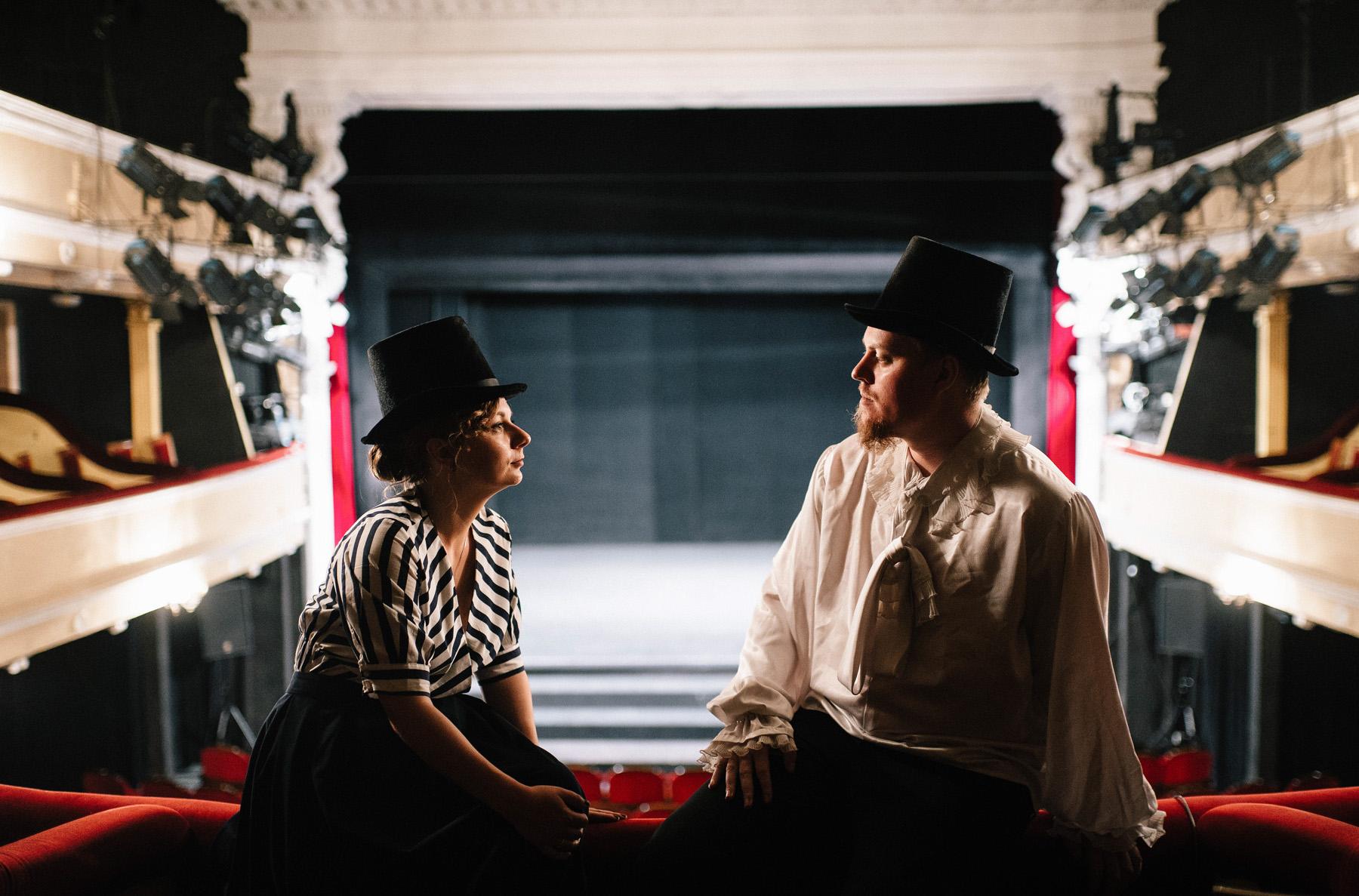 Patrycja & Artur | sesja w teatrze 6