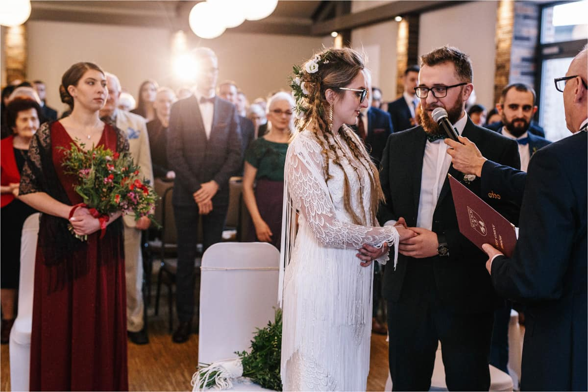 Gosia & Tomek   zimowy ślub w Gościńcu za Borem 22