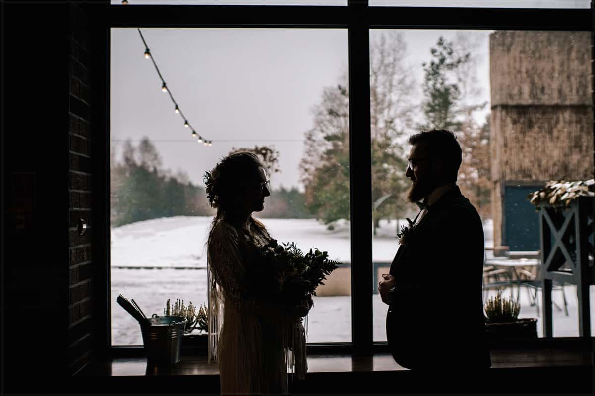 Gosia & Tomek   zimowy ślub w Gościńcu za Borem 13