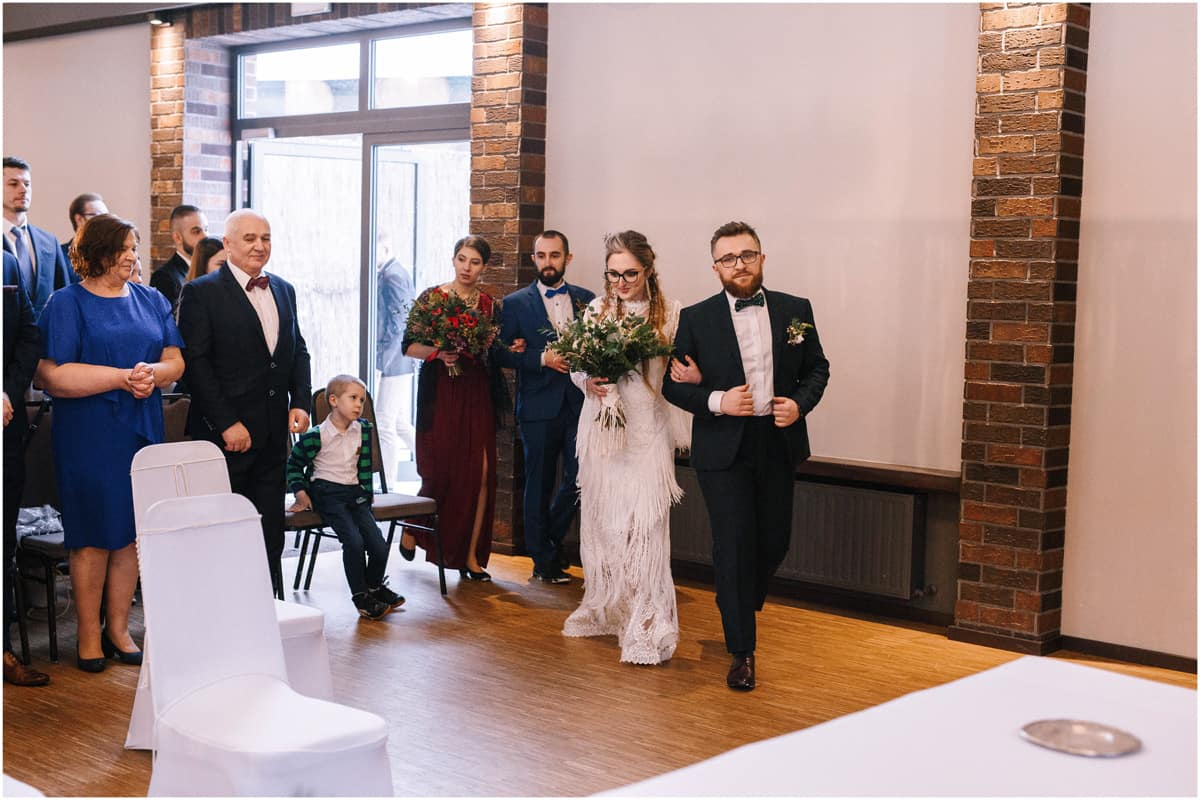 Gosia & Tomek   zimowy ślub w Gościńcu za Borem 18