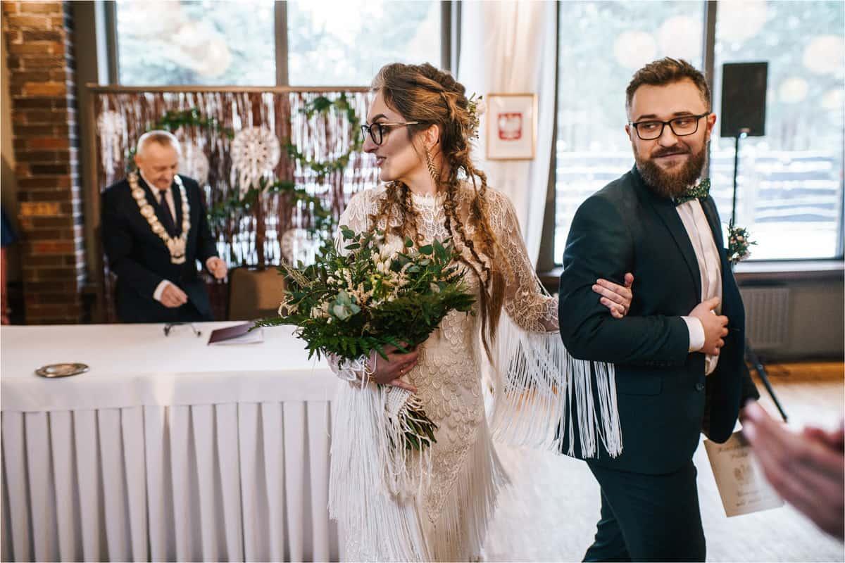 Gosia & Tomek   zimowy ślub w Gościńcu za Borem 25