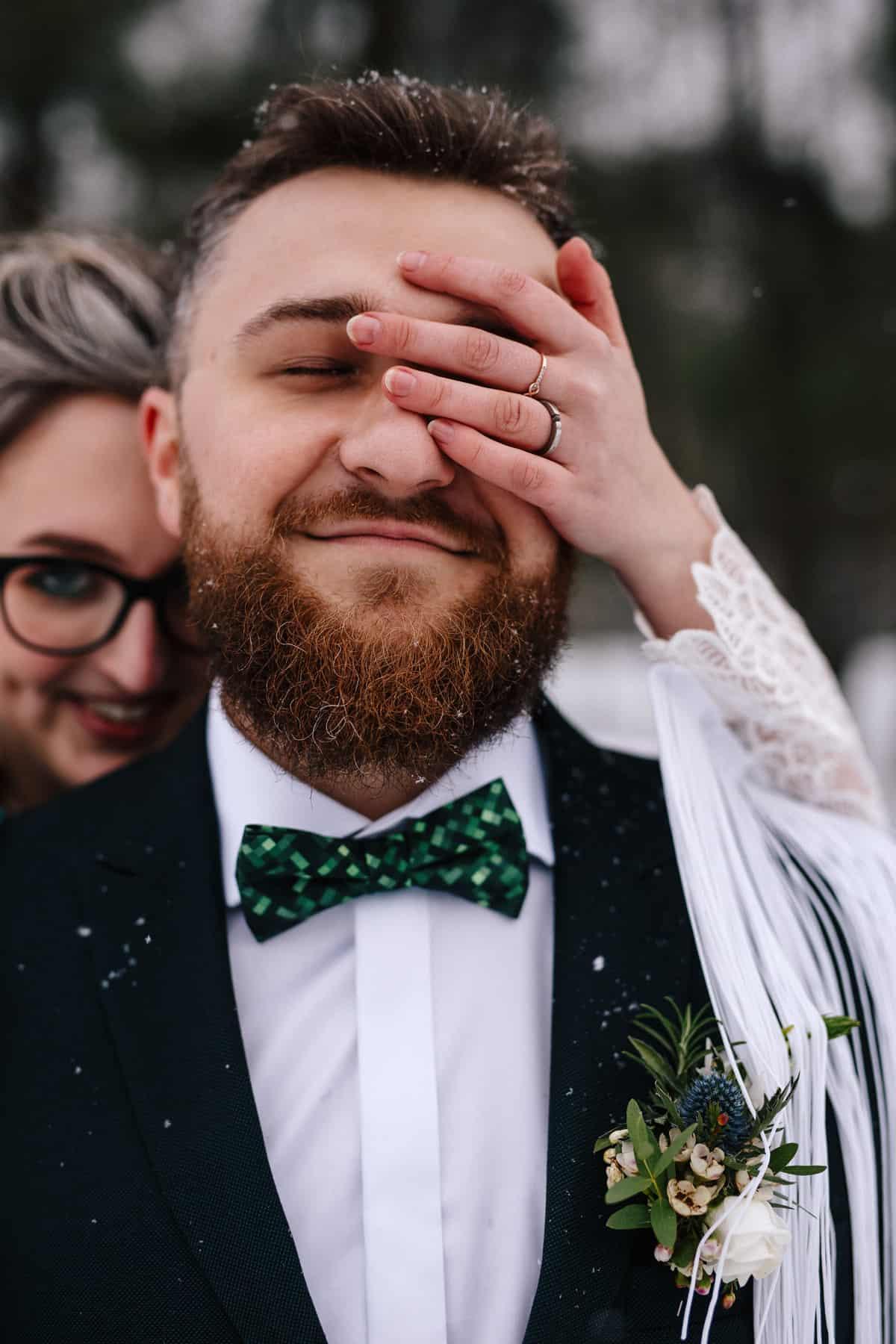 Gosia & Tomek   zimowy ślub w Gościńcu za Borem 9
