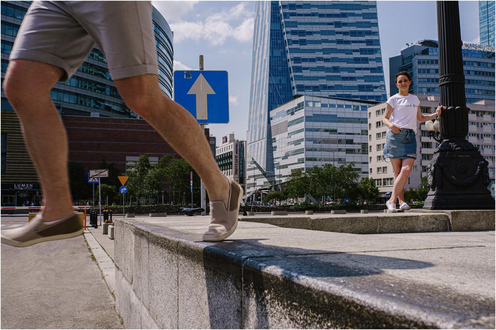 Justyna & Kamil |sesja miejska w Warszawie 2