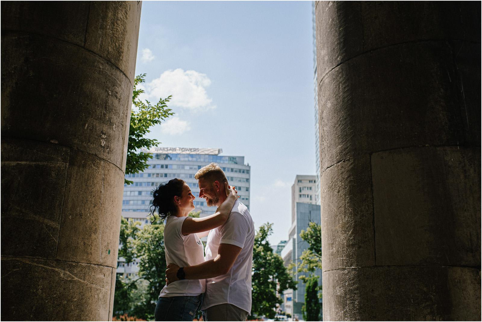 Justyna & Kamil |sesja miejska w Warszawie 9