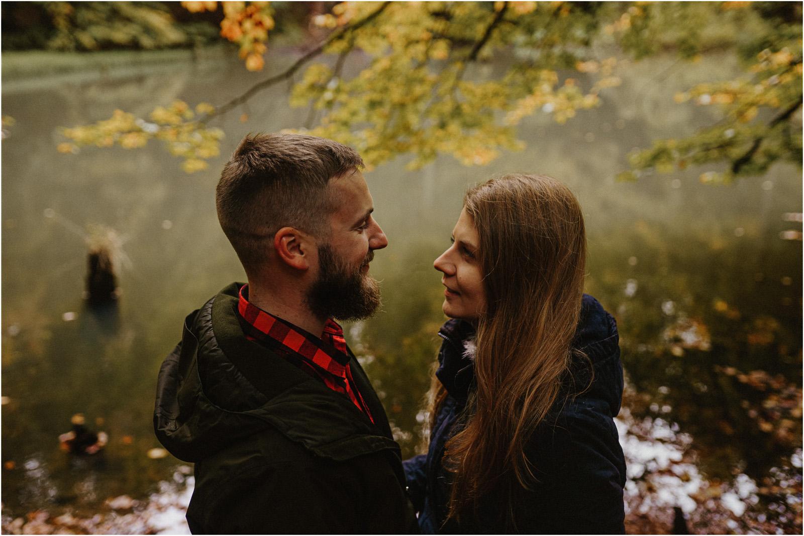 Ania & Szczepan | leśna sesja w Bieszczadach 9