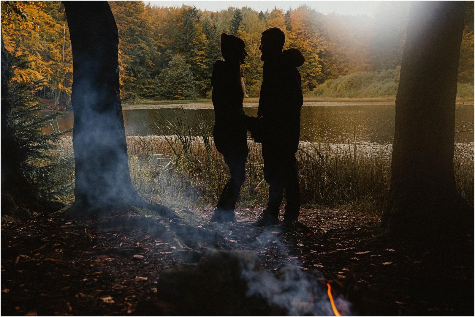 Ania & Szczepan | leśna sesja w Bieszczadach 18