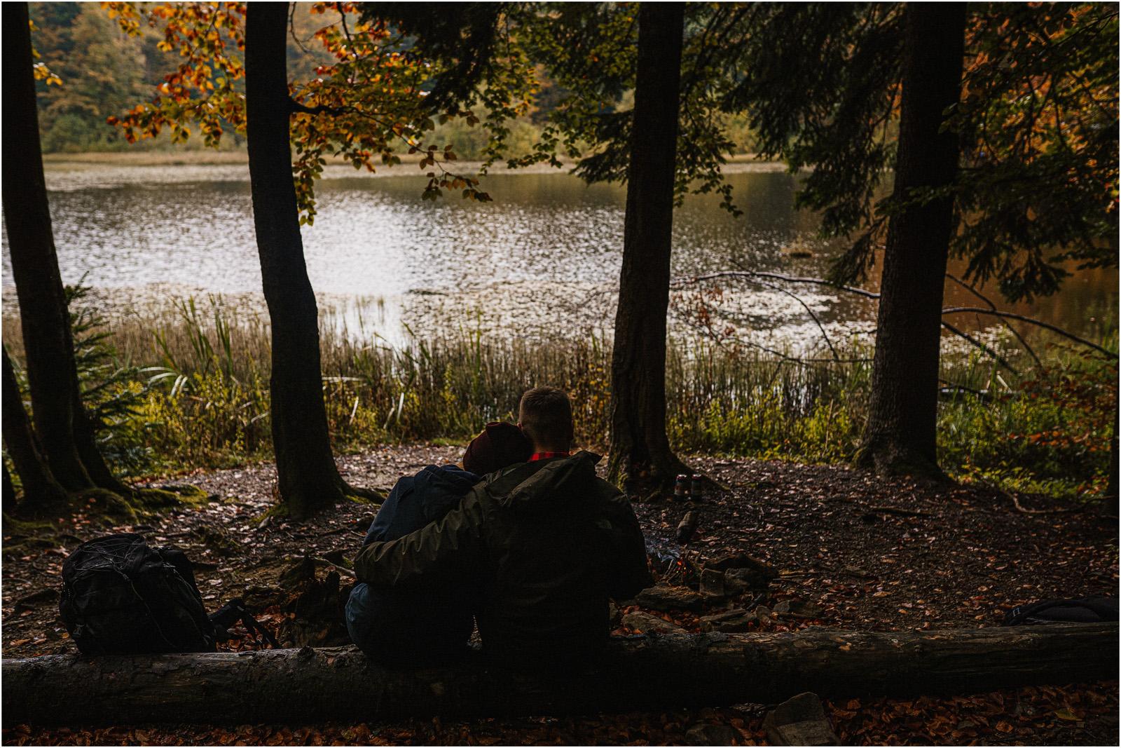 Ania & Szczepan | leśna sesja w Bieszczadach 15