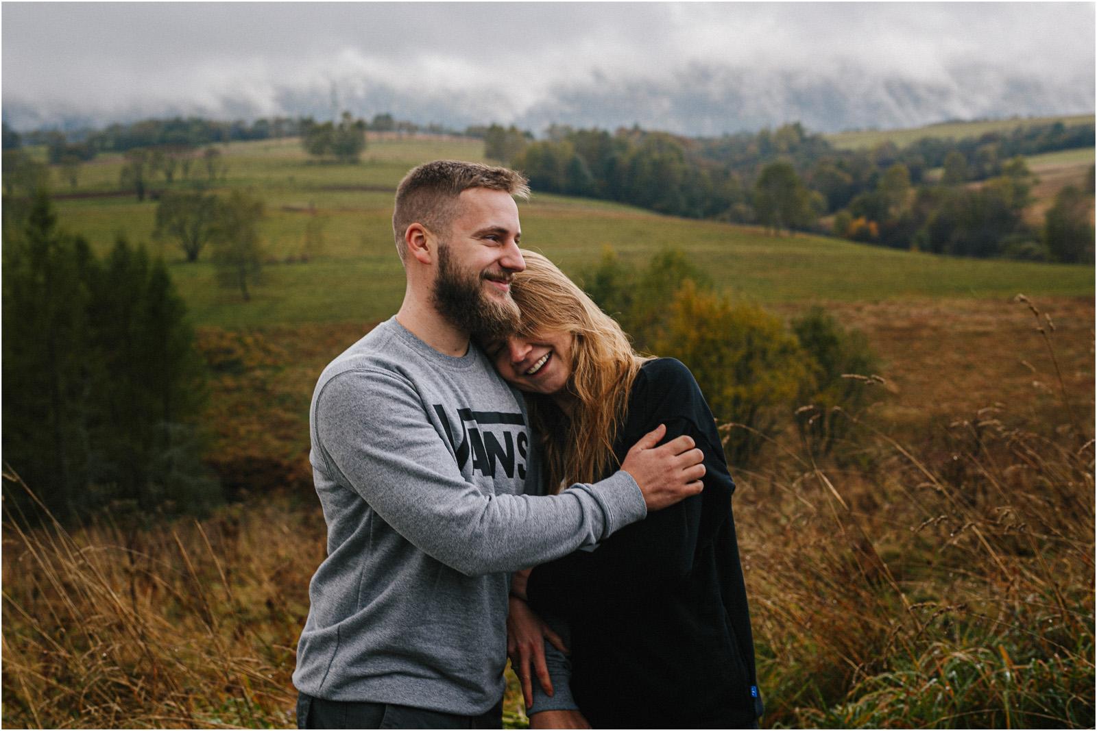 Ania & Szczepan | leśna sesja w Bieszczadach 20