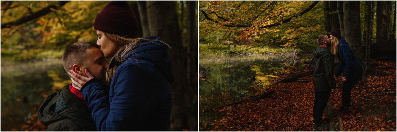 Ania & Szczepan | leśna sesja w Bieszczadach 11