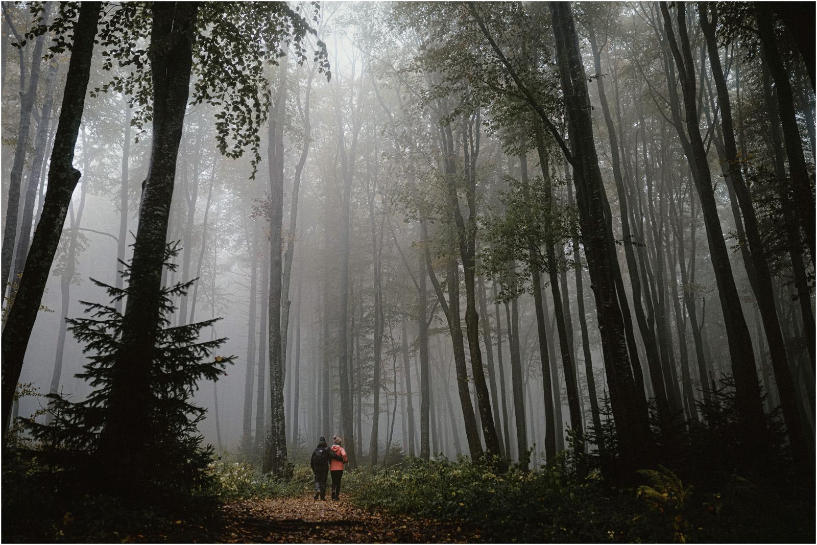 Ania & Szczepan | leśna sesja w Bieszczadach 28