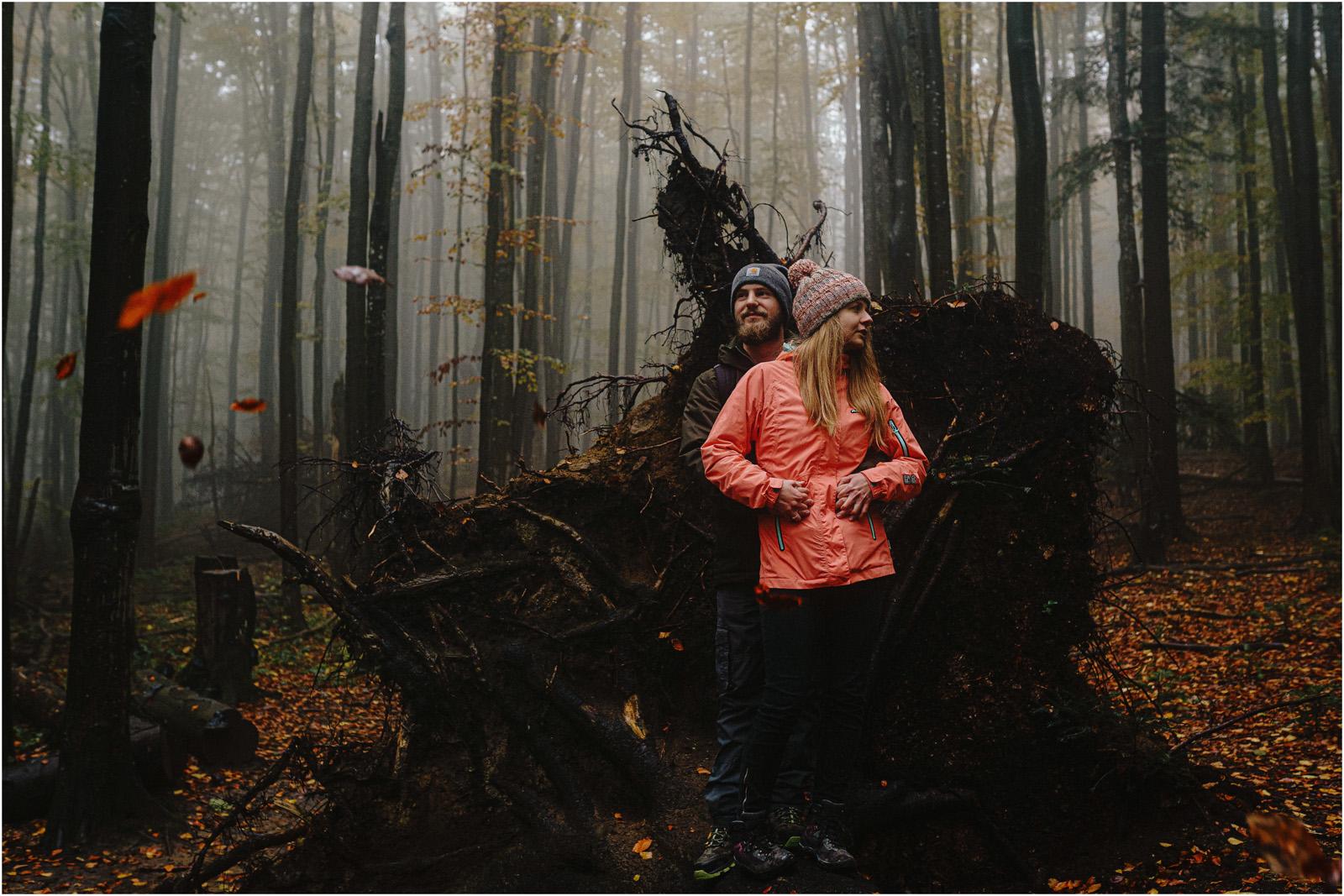 Ania & Szczepan | leśna sesja w Bieszczadach 41