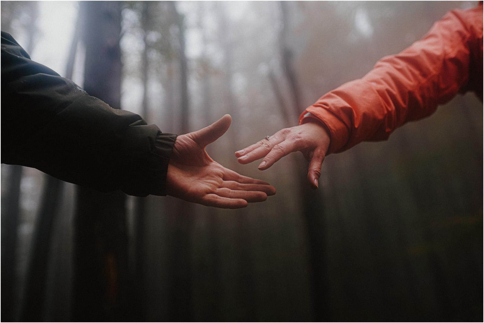 Ania & Szczepan | leśna sesja w Bieszczadach 42