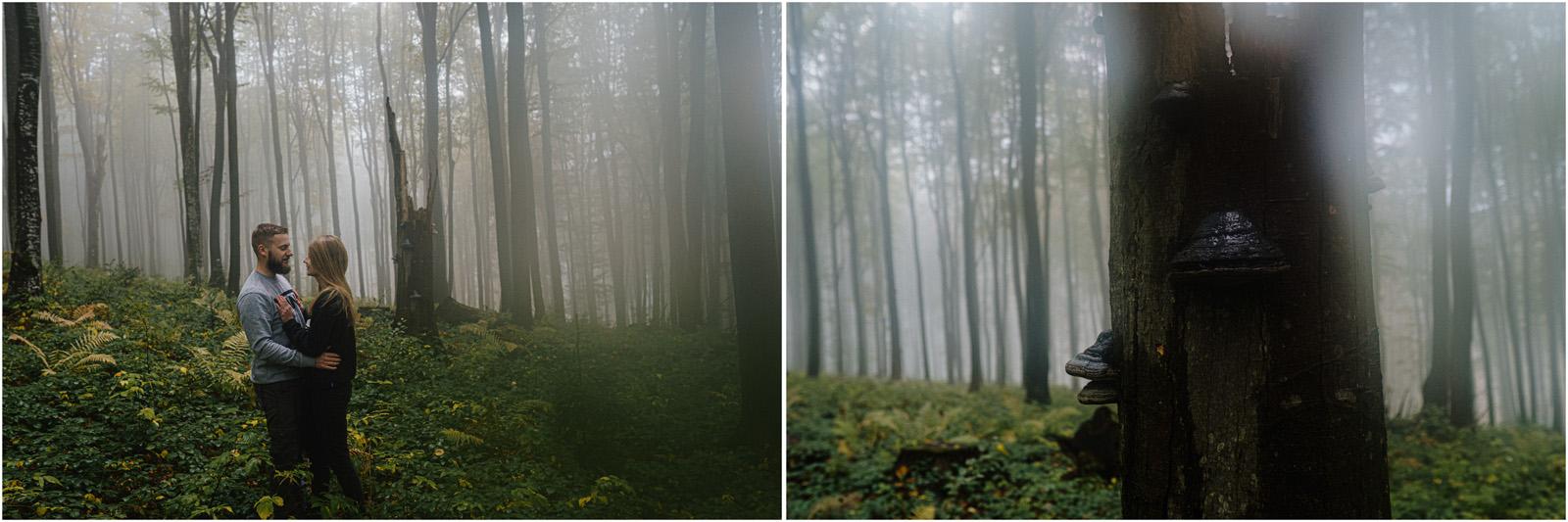 Ania & Szczepan | leśna sesja w Bieszczadach 31