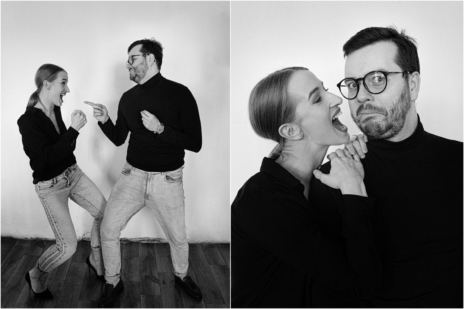 Joanna & Andrzej | czarno-biała sesja 7