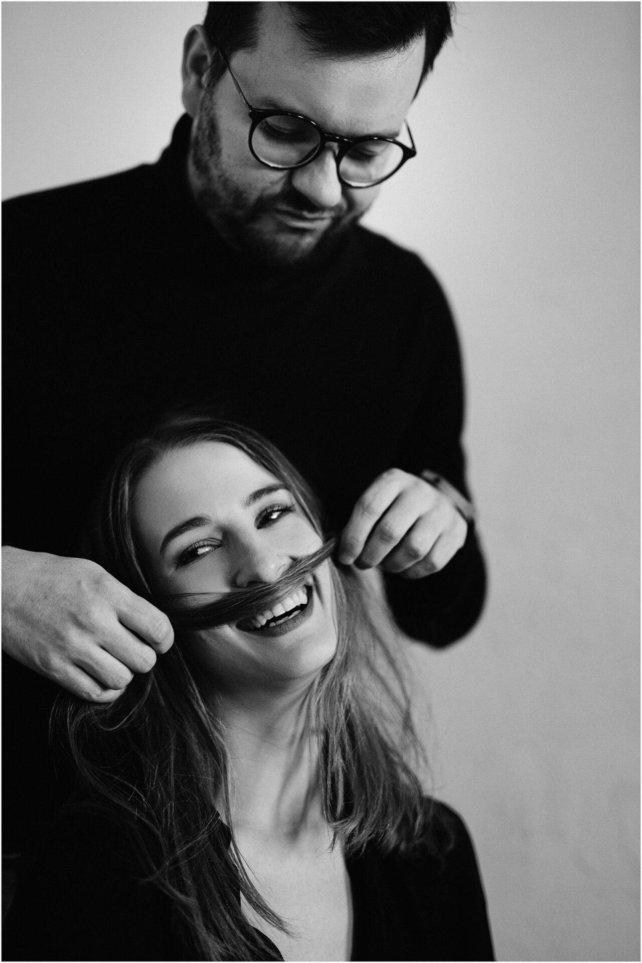 Joanna & Andrzej | czarno-biała sesja 13