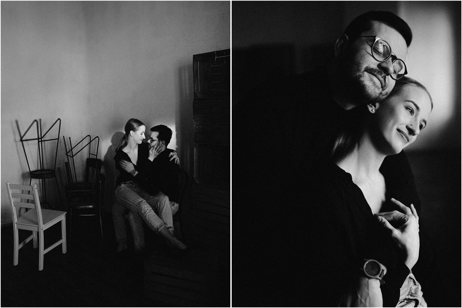 Joanna & Andrzej | czarno-biała sesja 9