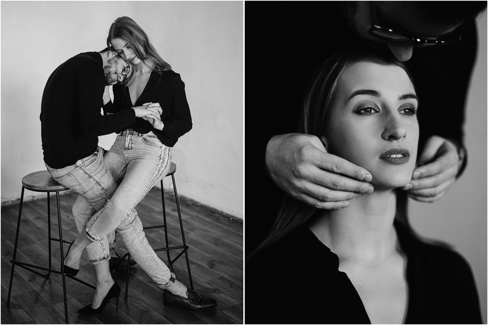 Joanna & Andrzej | czarno-biała sesja 17