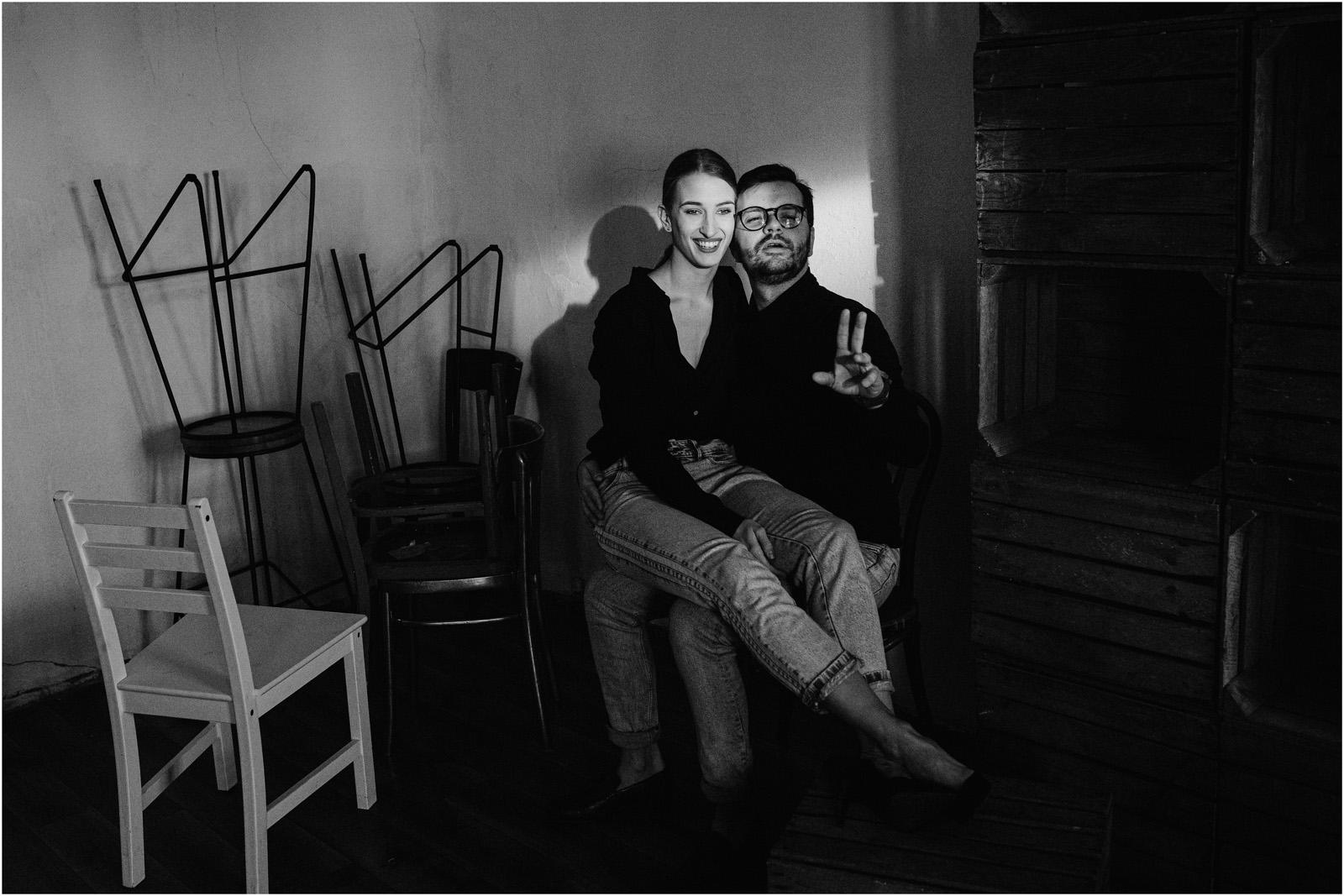 Joanna & Andrzej | czarno-biała sesja 8