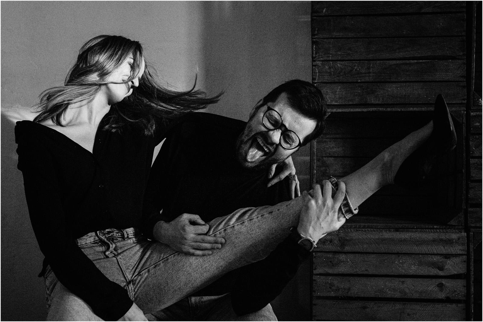 Joanna & Andrzej | czarno-biała sesja 12