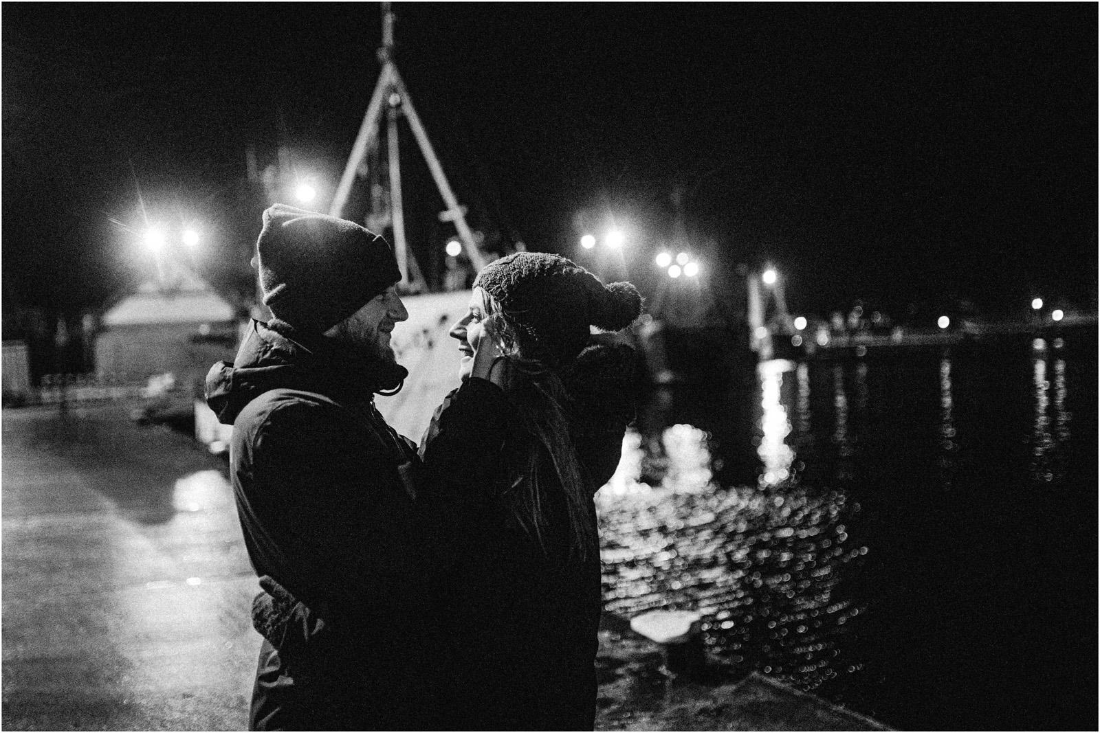 Ania & Szczepan | sesja nad morzem (b&w) 11