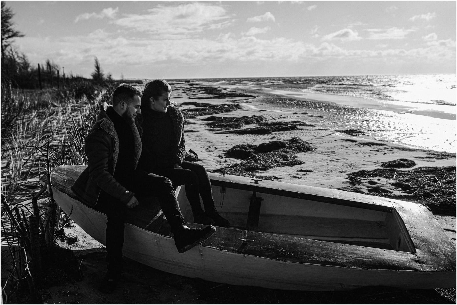 Ania & Szczepan | sesja nad morzem (b&w) 43