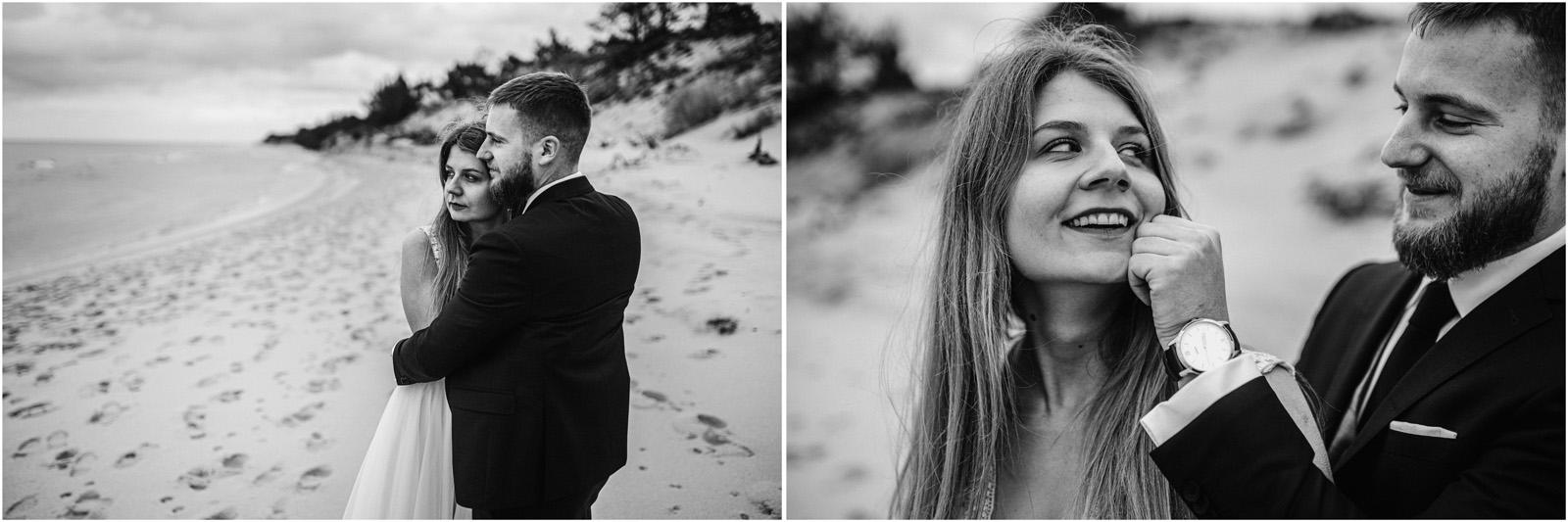 Ania & Szczepan | sesja nad morzem (b&w) 31