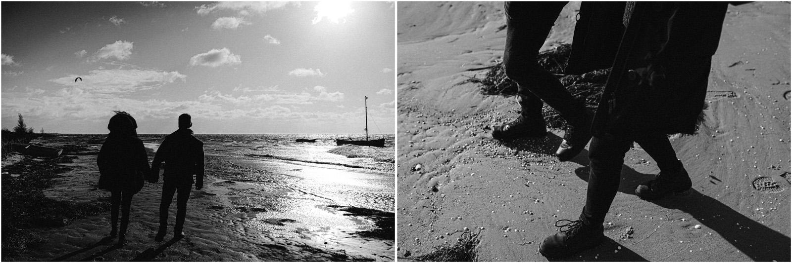 Ania & Szczepan | sesja nad morzem (b&w) 41