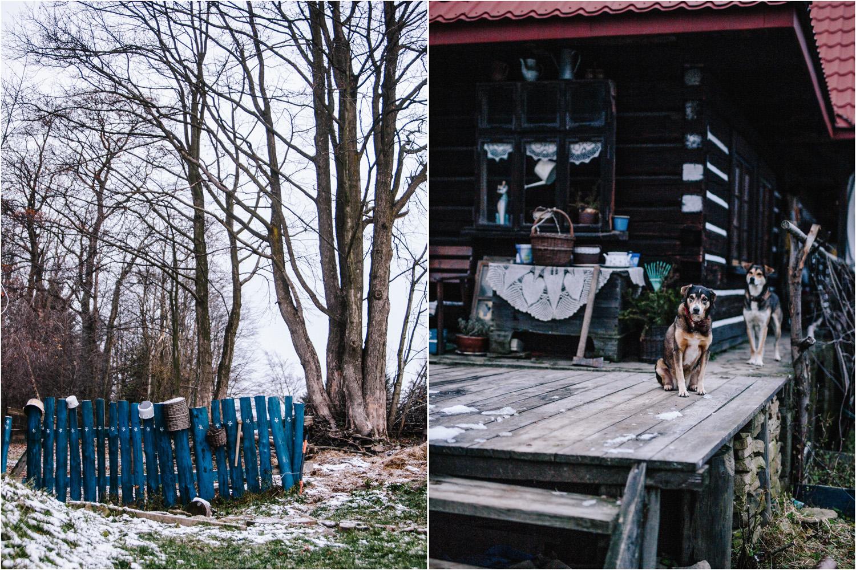 Agnieszka & Kuba | zimowa sesja w góralskiej chacie Jolinkowo 2