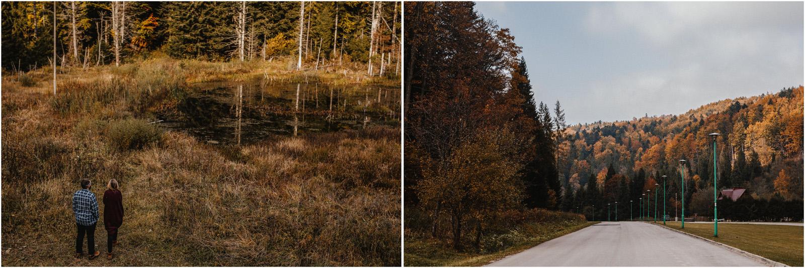 Jesień w Chatce Puchatka, czyli kulisy sesji Gosi i Tomka 2