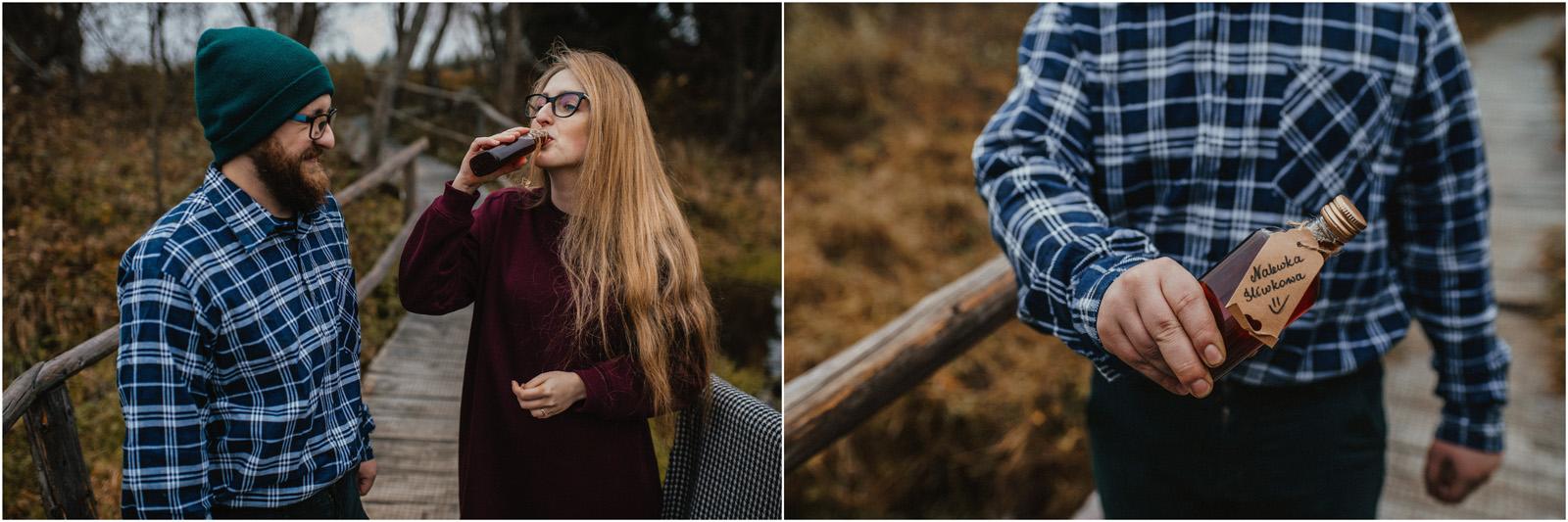 Jesień w Chatce Puchatka, czyli kulisy sesji Gosi i Tomka 8