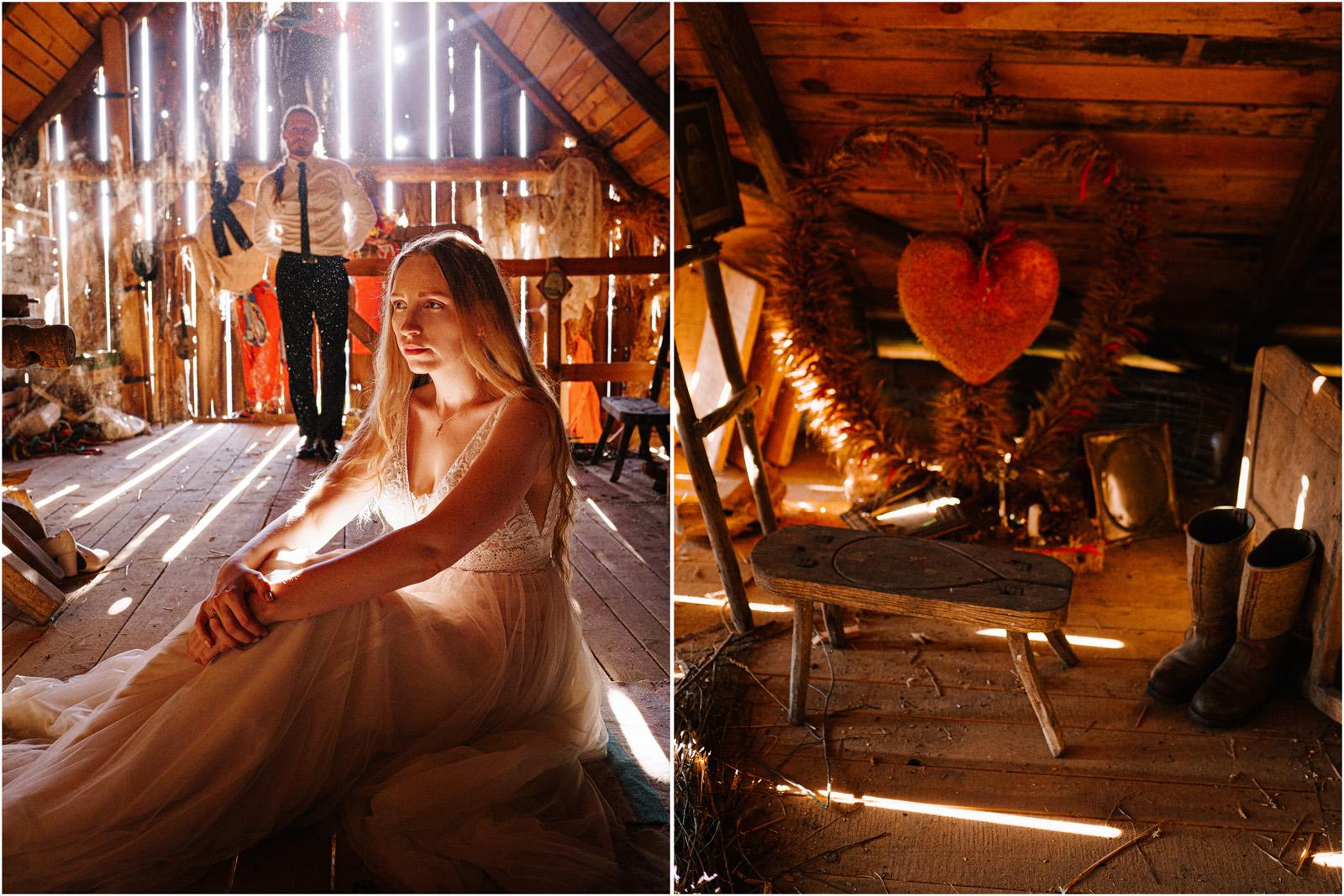 Ewelina & Seweryn | rustykalna sesja w stodole 4