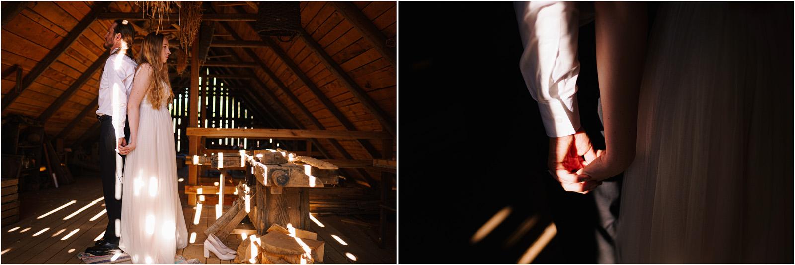 Ewelina & Seweryn | rustykalna sesja w stodole 10