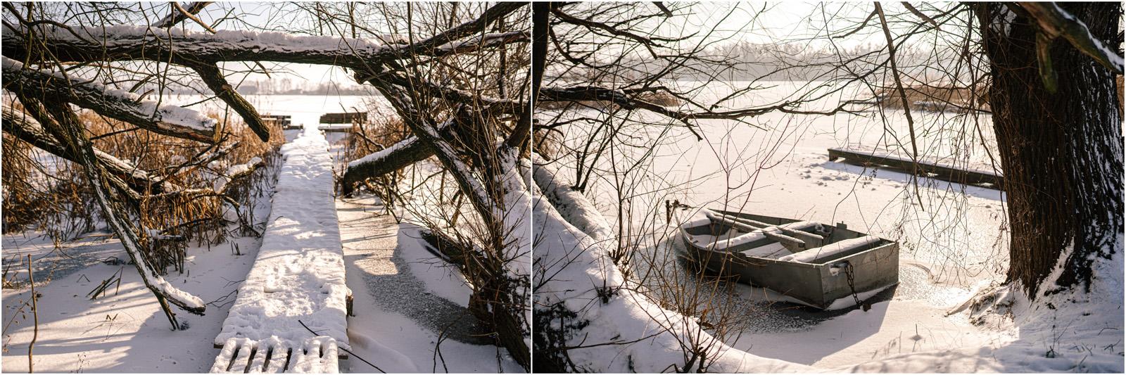 Paulina & Bartek | zimowa sesja nad jeziorem 28