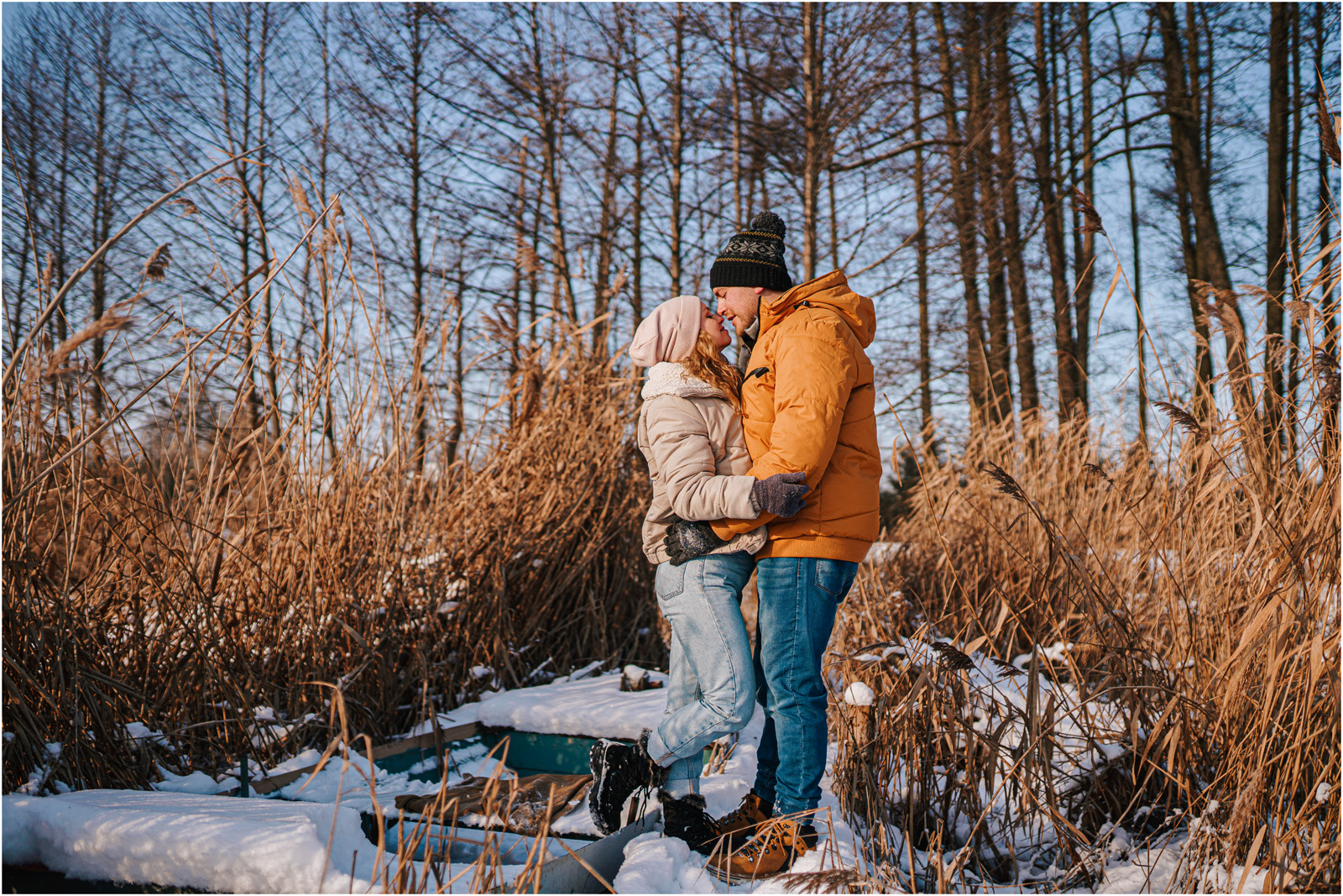 Paulina & Bartek | zimowa sesja nad jeziorem 18