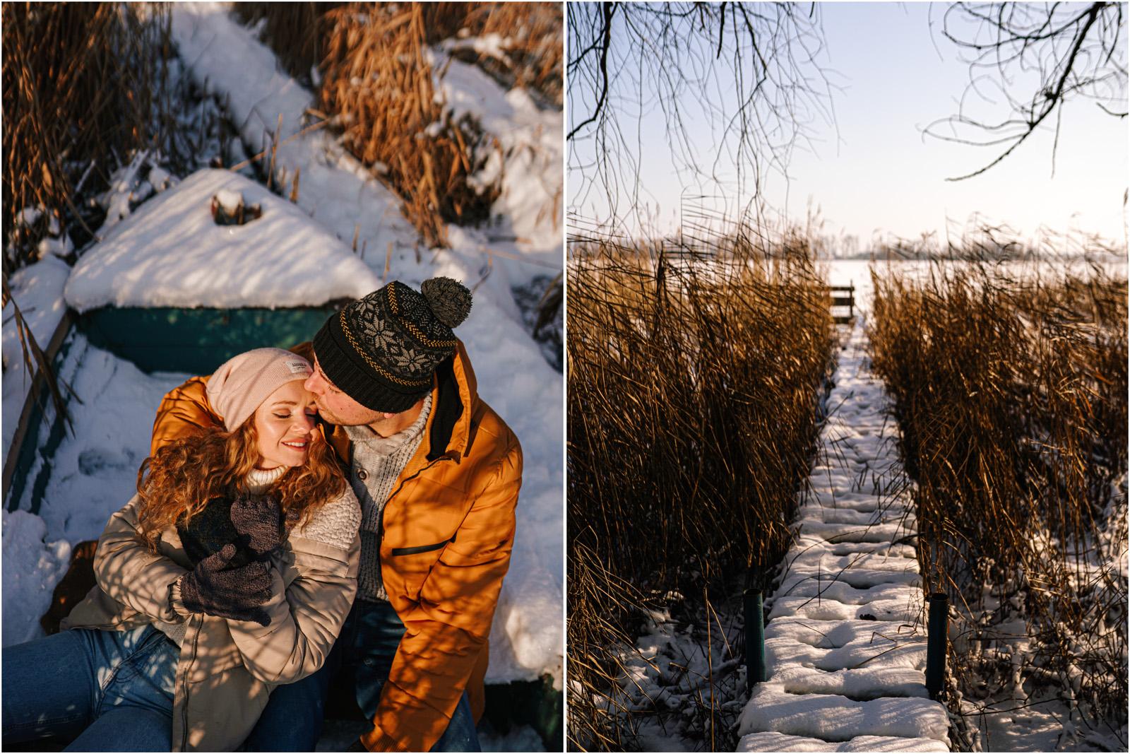 Paulina & Bartek | zimowa sesja nad jeziorem 22