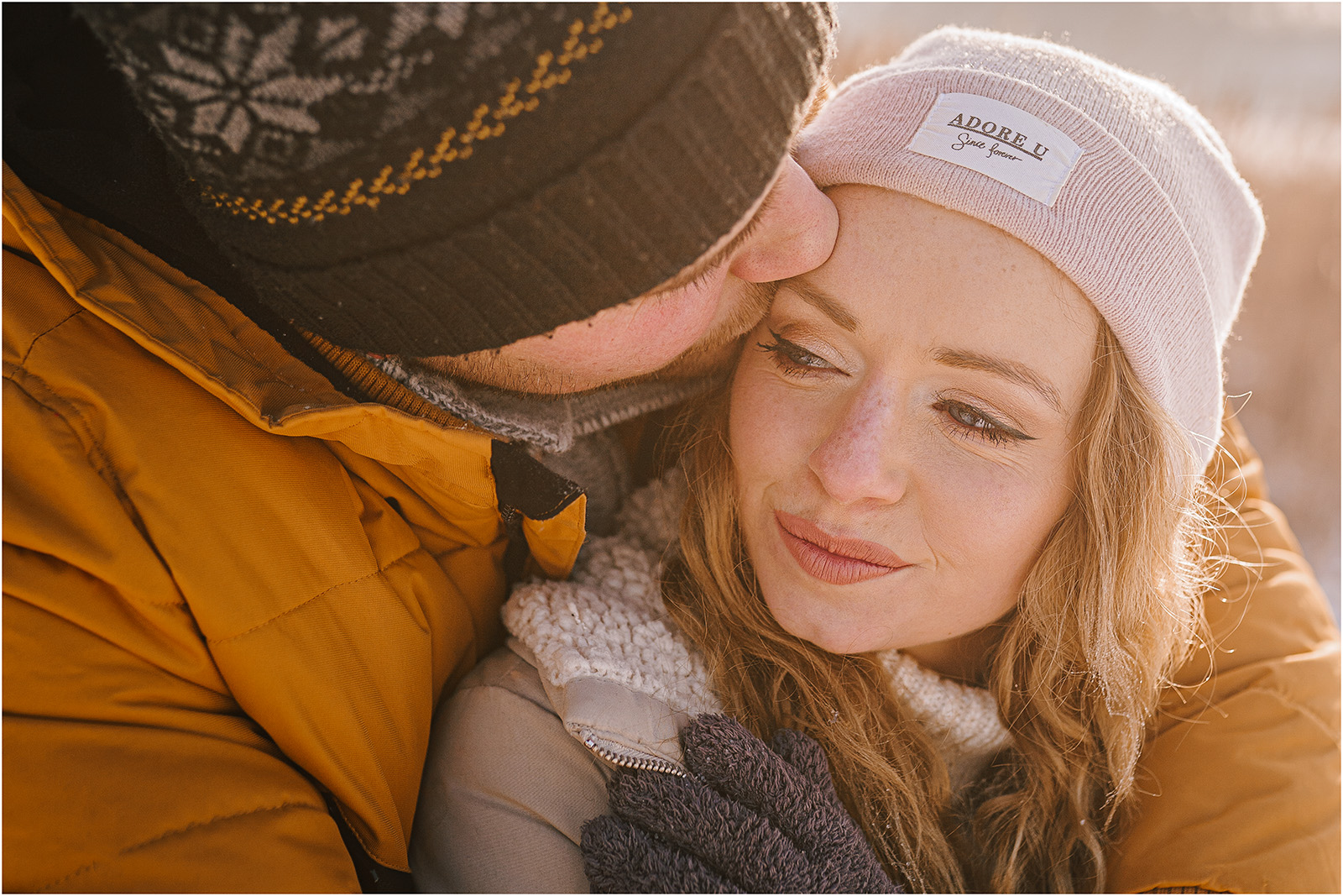 Paulina & Bartek | zimowa sesja nad jeziorem 4