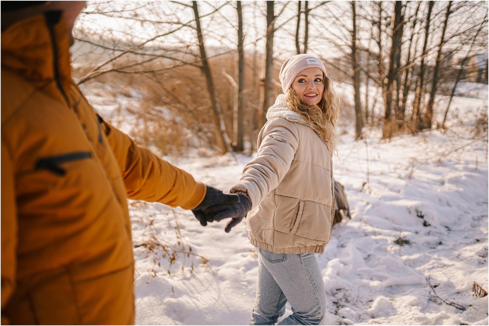 Paulina & Bartek | zimowa sesja nad jeziorem 14