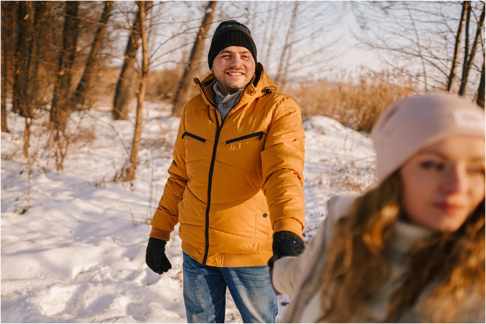 Paulina & Bartek | zimowa sesja nad jeziorem 12