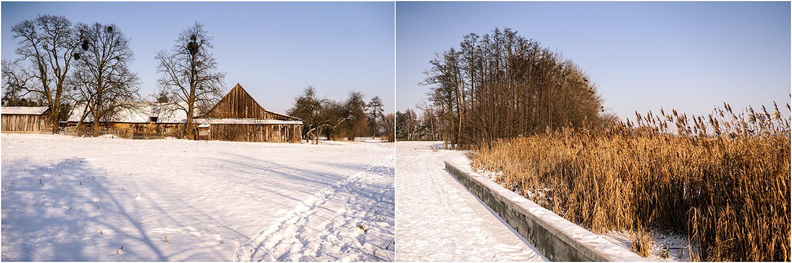 Paulina & Bartek | zimowa sesja nad jeziorem 10