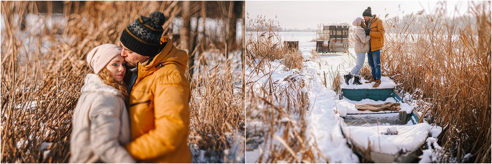 Paulina & Bartek | zimowa sesja nad jeziorem 19