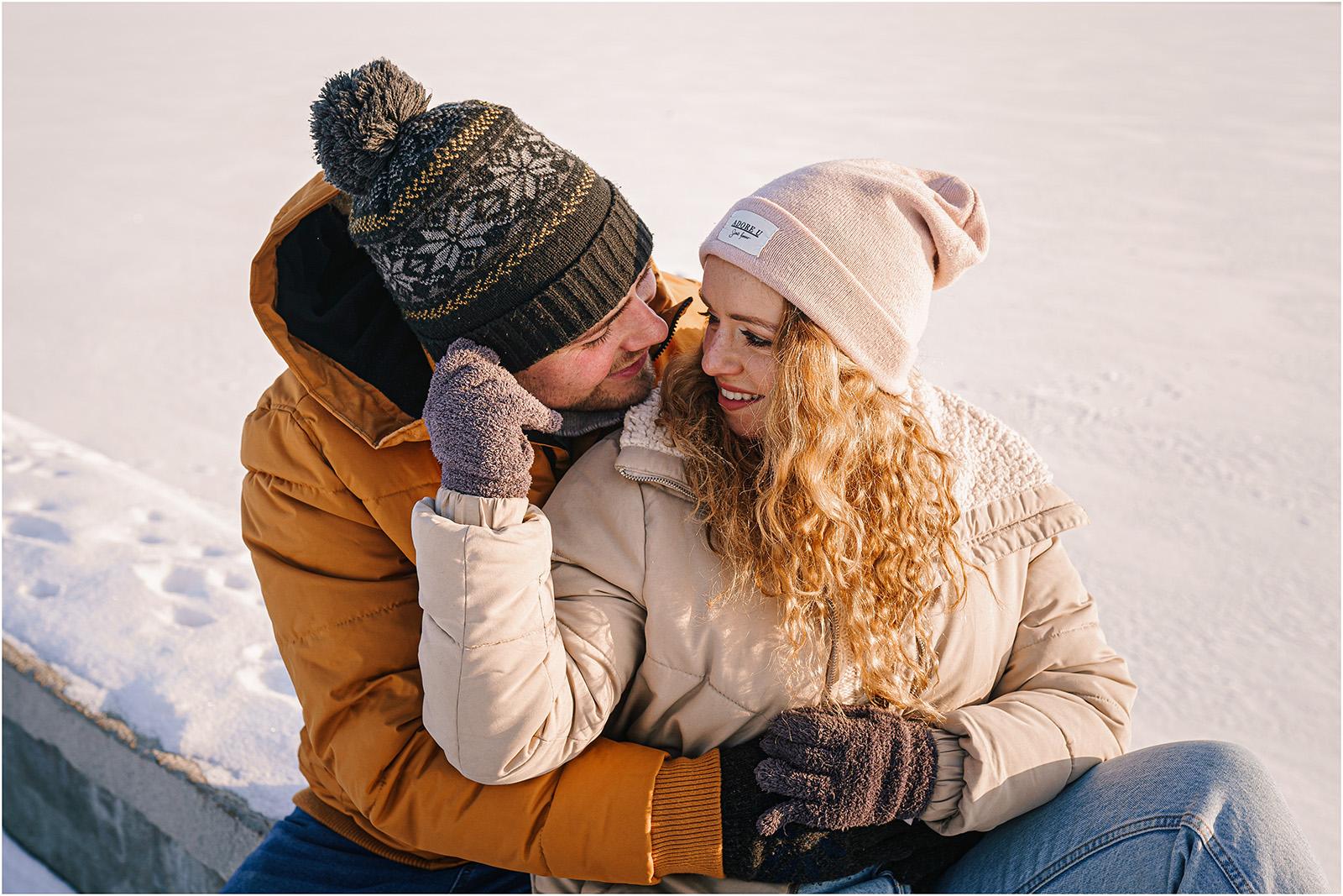 Paulina & Bartek | zimowa sesja nad jeziorem 2