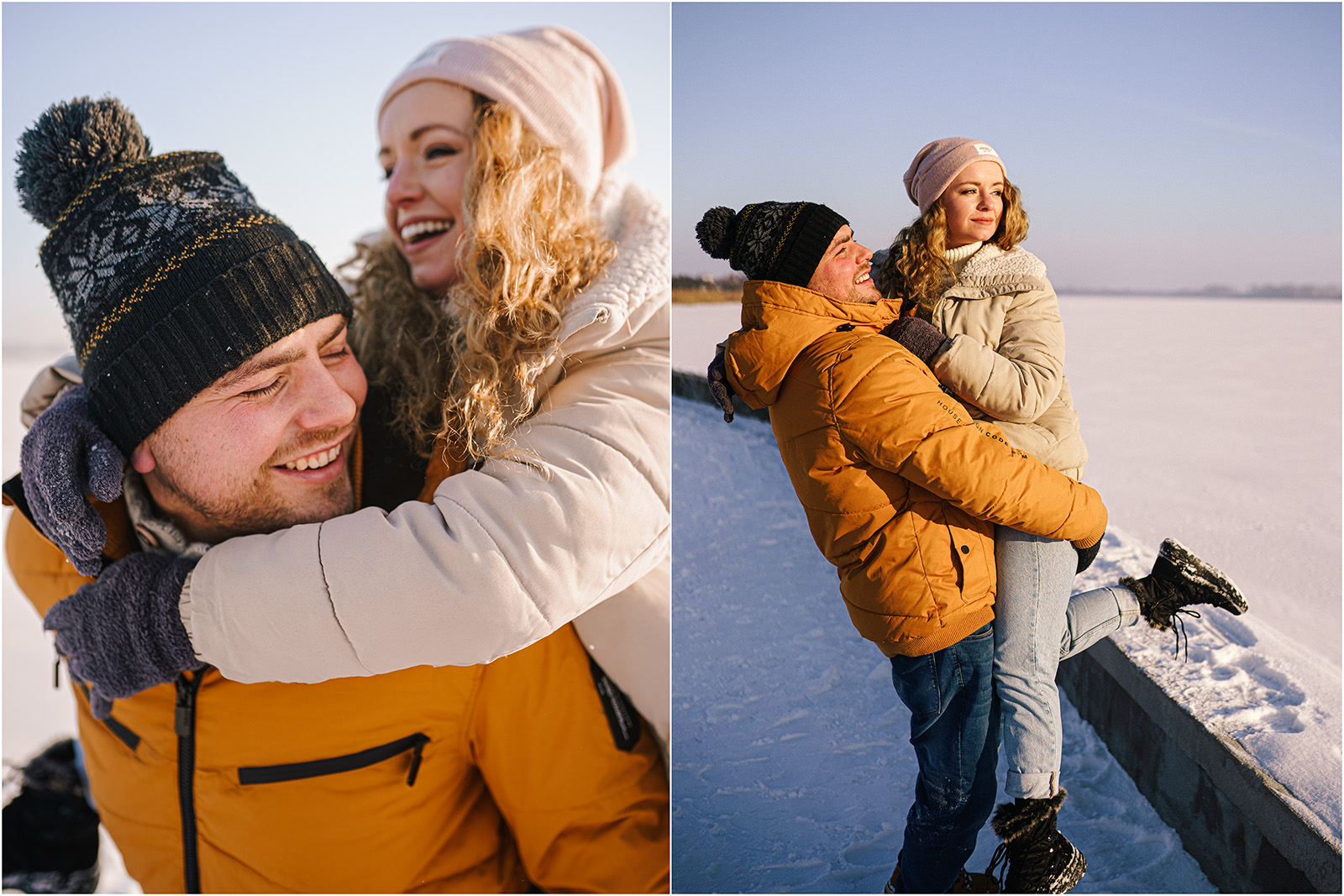 Paulina & Bartek | zimowa sesja nad jeziorem 8