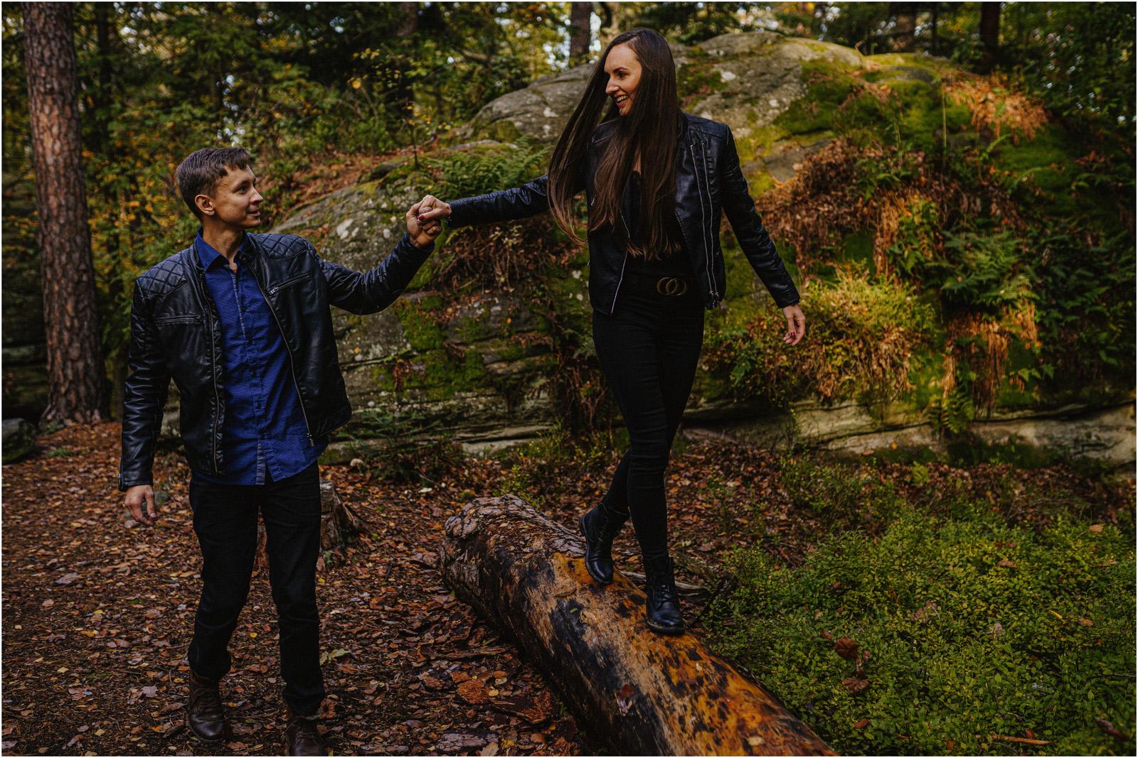 Monika & Marcin | jesienna sesja w Skałkach Piekło 12