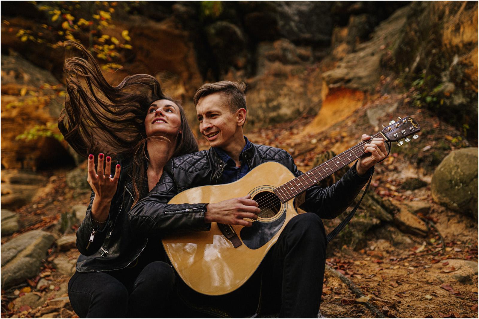 Monika & Marcin | jesienna sesja w Skałkach Piekło 22