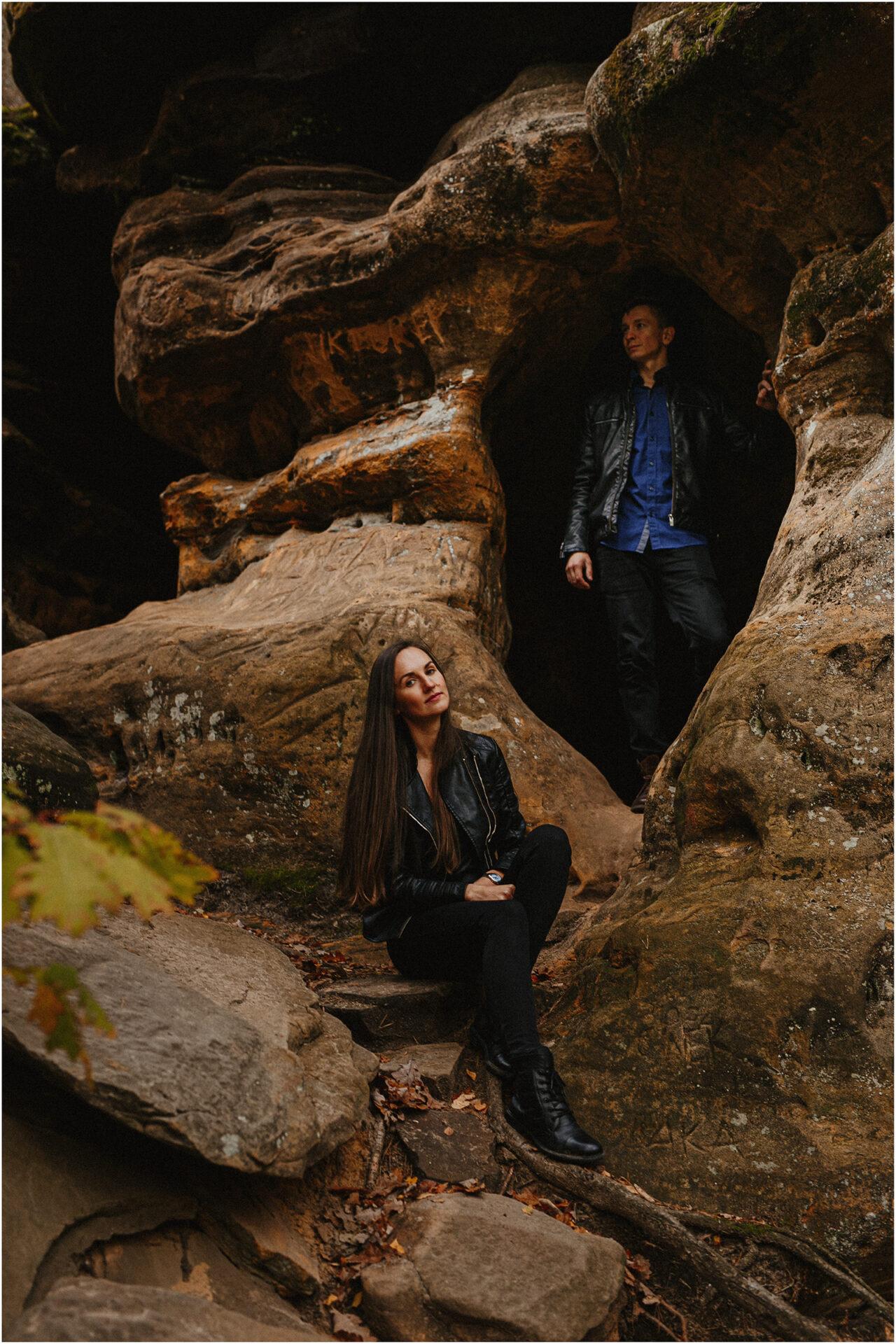 Monika & Marcin | jesienna sesja w Skałkach Piekło 24