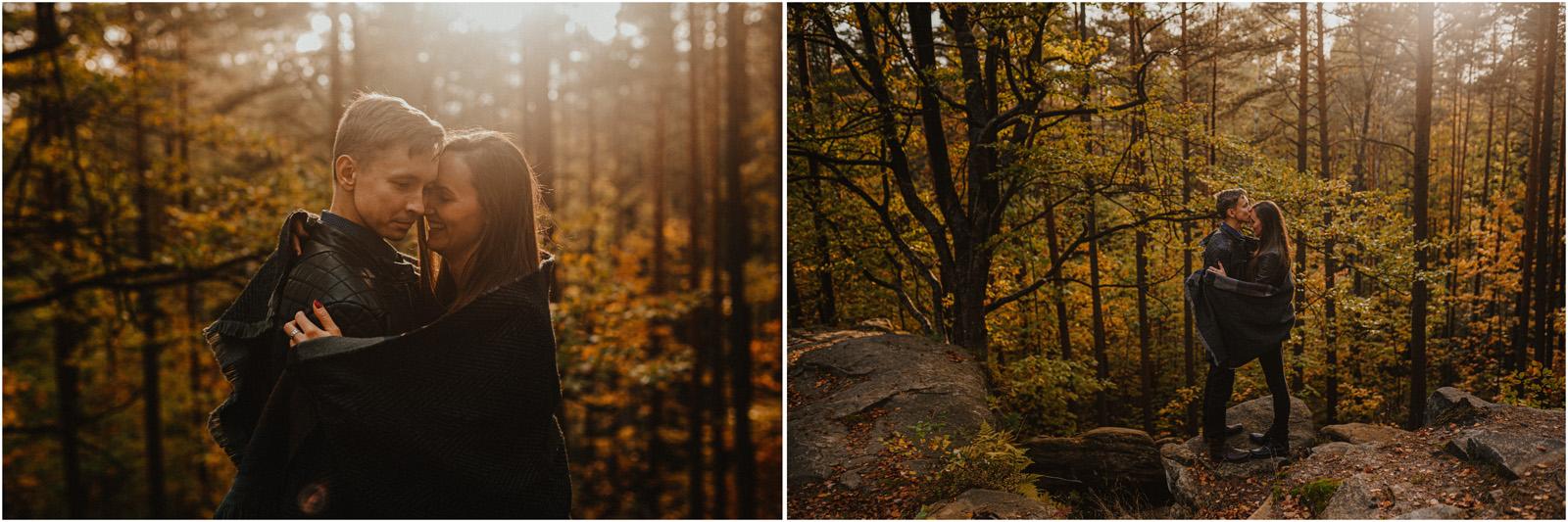 Monika & Marcin | jesienna sesja w Skałkach Piekło 30