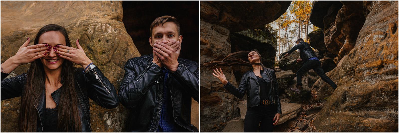 Monika & Marcin | jesienna sesja w Skałkach Piekło 23